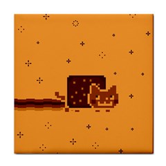 Nyan Cat Vintage Face Towel by Onesevenart