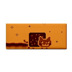 Nyan Cat Vintage Hand Towel by Onesevenart