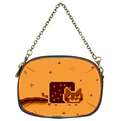 Nyan Cat Vintage Chain Purses (one Side)  by Onesevenart