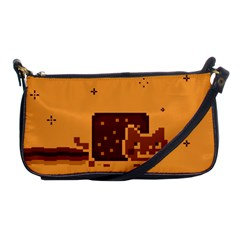 Nyan Cat Vintage Shoulder Clutch Bags by Onesevenart
