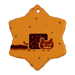 Nyan Cat Vintage Ornament (snowflake)  by Onesevenart