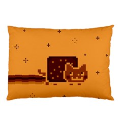 Nyan Cat Vintage Pillow Case (two Sides) by Onesevenart