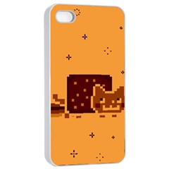 Nyan Cat Vintage Apple Iphone 4/4s Seamless Case (white) by Onesevenart