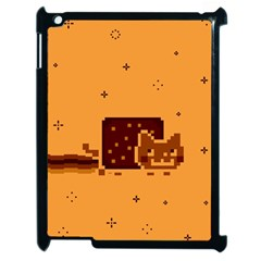 Nyan Cat Vintage Apple Ipad 2 Case (black) by Onesevenart