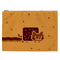 Nyan Cat Vintage Cosmetic Bag (xxl)  by Onesevenart