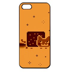 Nyan Cat Vintage Apple Iphone 5 Seamless Case (black) by Onesevenart
