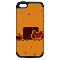 Nyan Cat Vintage Apple Iphone 5 Hardshell Case (pc+silicone) by Onesevenart