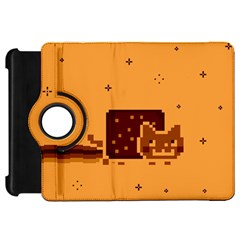 Nyan Cat Vintage Kindle Fire Hd Flip 360 Case by Onesevenart