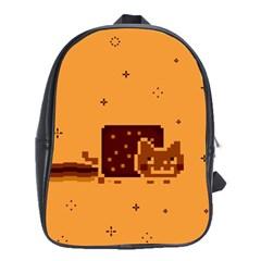 Nyan Cat Vintage School Bags (xl)  by Onesevenart