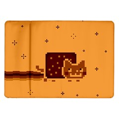 Nyan Cat Vintage Samsung Galaxy Tab 10 1  P7500 Flip Case by Onesevenart
