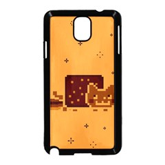 Nyan Cat Vintage Samsung Galaxy Note 3 Neo Hardshell Case (black) by Onesevenart