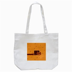 Nyan Cat Vintage Tote Bag (white) by Onesevenart