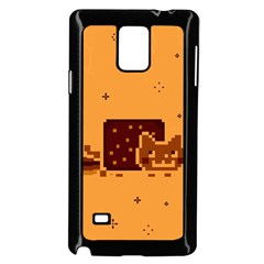 Nyan Cat Vintage Samsung Galaxy Note 4 Case (black) by Onesevenart