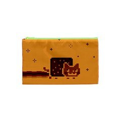 Nyan Cat Vintage Cosmetic Bag (xs) by Onesevenart