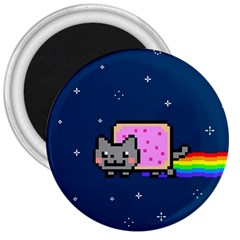 Nyan Cat 3  Magnets by Onesevenart