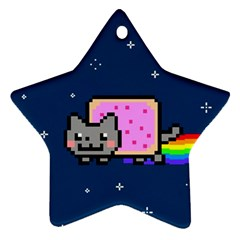 Nyan Cat Ornament (star)  by Onesevenart