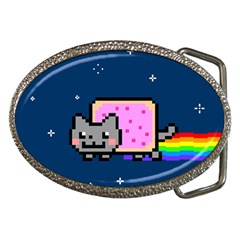 Nyan Cat Belt Buckles by Onesevenart