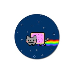 Nyan Cat Magnet 3  (round) by Onesevenart