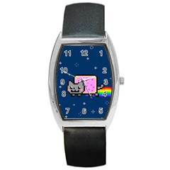 Nyan Cat Barrel Style Metal Watch by Onesevenart