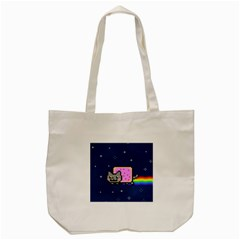 Nyan Cat Tote Bag (cream) by Onesevenart