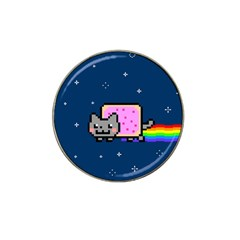 Nyan Cat Hat Clip Ball Marker (4 Pack) by Onesevenart