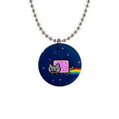 Nyan Cat Button Necklaces by Onesevenart