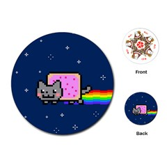 Nyan Cat Playing Cards (round)  by Onesevenart