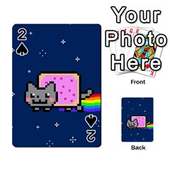 Nyan Cat Playing Cards 54 Designs  by Onesevenart