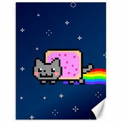 Nyan Cat Canvas 12  X 16   by Onesevenart