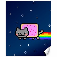 Nyan Cat Canvas 16  X 20   by Onesevenart