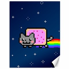 Nyan Cat Canvas 36  X 48   by Onesevenart