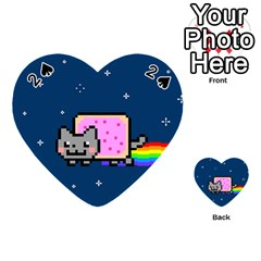 Nyan Cat Playing Cards 54 (heart)  by Onesevenart