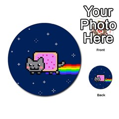 Nyan Cat Multi Purpose Cards (round)  by Onesevenart