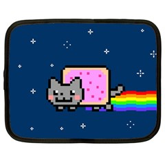 Nyan Cat Netbook Case (large) by Onesevenart