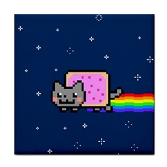 Nyan Cat Face Towel by Onesevenart