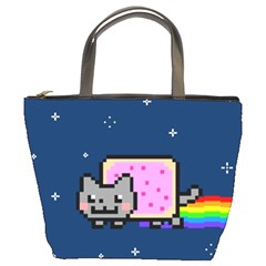 Nyan Cat Bucket Bags by Onesevenart