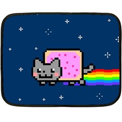 Nyan Cat Double Sided Fleece Blanket (mini)  by Onesevenart