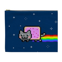 Nyan Cat Cosmetic Bag (xl) by Onesevenart