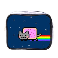 Nyan Cat Mini Toiletries Bags by Onesevenart