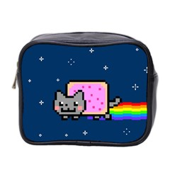 Nyan Cat Mini Toiletries Bag 2 Side by Onesevenart