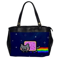 Nyan Cat Office Handbags by Onesevenart
