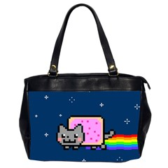 Nyan Cat Office Handbags (2 Sides)  by Onesevenart