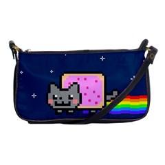 Nyan Cat Shoulder Clutch Bags by Onesevenart