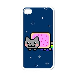 Nyan Cat Apple Iphone 4 Case (white) by Onesevenart