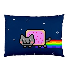 Nyan Cat Pillow Case (two Sides) by Onesevenart