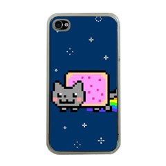 Nyan Cat Apple Iphone 4 Case (clear) by Onesevenart