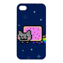 Nyan Cat Apple Iphone 4/4s Hardshell Case by Onesevenart