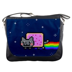 Nyan Cat Messenger Bags by Onesevenart