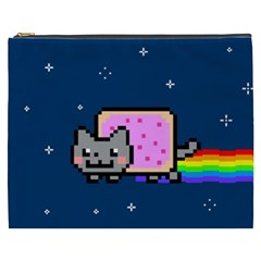 Nyan Cat Cosmetic Bag (xxxl)  by Onesevenart