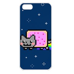 Nyan Cat Apple Iphone 5 Seamless Case (white) by Onesevenart